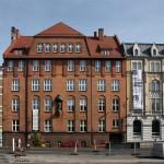 Budynek szkoły przy dawnej ul. Dzierżyńskiego 64, dziś siedziba Zespołu Szkół Gastronomiczno-Usługowych ul. Katowicka 64