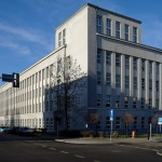 Sieba szkoły w latach 1956-1957, dziś budynek Politechniki Śląskiej w Katowicach ul. Krasińskiego (dawne Śląskie Techniczne Zakłady Naukowe)