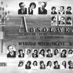 Tablo rocznik 1974 wydział mechaniczny
